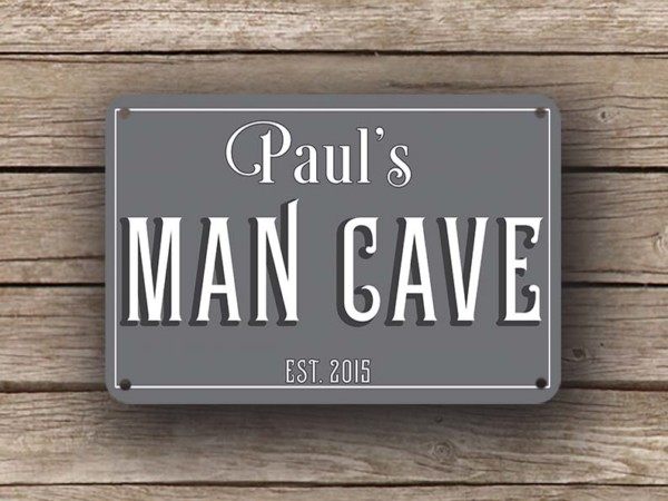 Man Cave Signs Metal : Personalized man cave sign signs classic