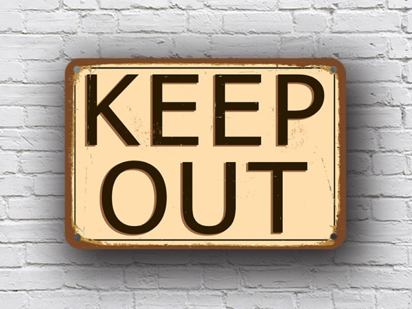 Vintage Style Keep Out Sign