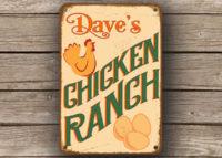Chicken Range Sign