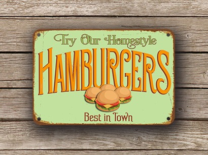Burger Sign