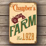 custom farm sign