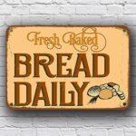 fresh bread sign