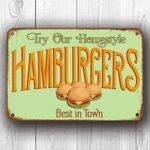 Hamburger Sign