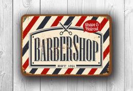 vintage style barbershop sign