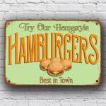 Vintage Style Hamburgers Sign