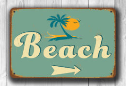 Vintage Style Beach Sign
