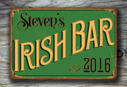 Personalized Bar Signs