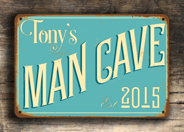 Man Cave Vintage Signs : Custom man cave sign classic metal signs