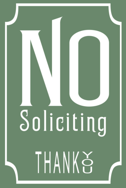 Classic Style No Soliciting Sign Classic Metal Signs