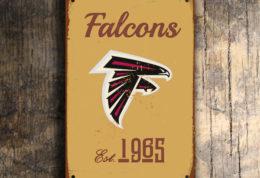 Atlanta Falcons Football Sign