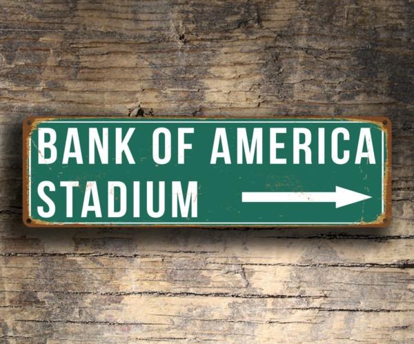 Bank of America Stadium Sign