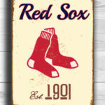 BOSTON-RED-SOX-Sign-Vintage-style-Boston-Red-Sox-Est.-1901-Composite-Aluminum-Boston-Redsox-Sign-in-team-colors-Baseball-Sign-Boston-Redsox