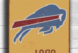 BUFFALO BILLS Sign Vintage style Buffalo Bills Sign Est. 1960 Composite Aluminum Vintage Buffalo Bills Sign FOOTBALL Fan Sign Sports Fan