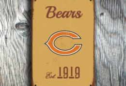 Chicago Bears Football Sign
