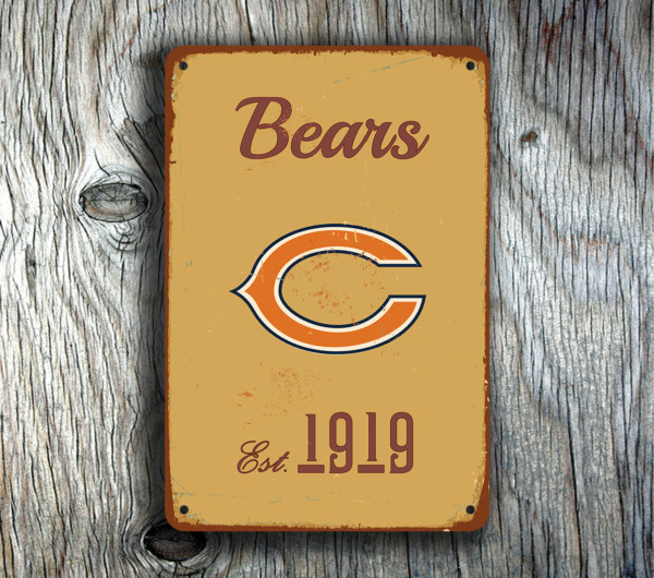 vintage home decor chicago chicago bears sign vintage style classic metal signs 11795