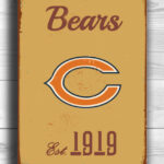 CHICAGO-BEARS-Sign-Vintage-style-Chicago-Bears-Sign-Est.-1919-Composite-Aluminum-Vintage-Chicago-Bears-Sign-BEARS-Sign-Football-Fan-Sign-1