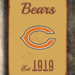 CHICAGO-BEARS-Sign-Vintage-style-Chicago-Bears-Sign-Est.-1919-Composite-Aluminum-Vintage-Chicago-Bears-Sign-BEARS-Sign-Football-Fan-Sign-3