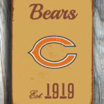 CHICAGO-BEARS-Sign-Vintage-style-Chicago-Bears-Sign-Est.-1919-Composite-Aluminum-Vintage-Chicago-Bears-Sign-BEARS-Sign-Football-Fan-Sign-4