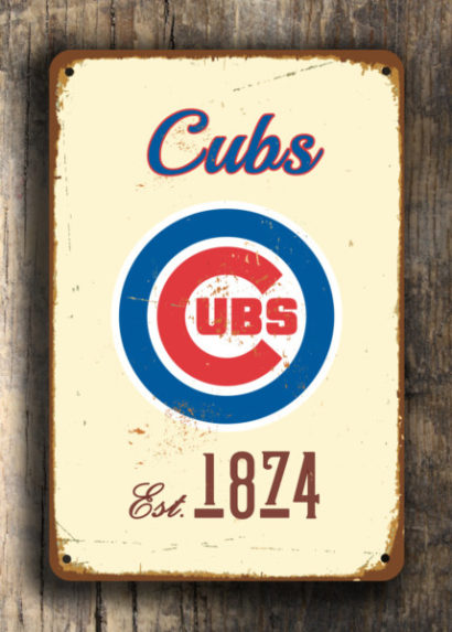 Signs Classic Vintage CHICAGO CUBS style Metal Sign |