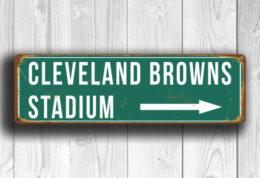Cleveland Browns Stadium Sign