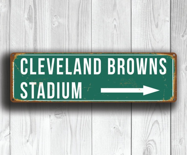Cleveland Browns Stadium Sign