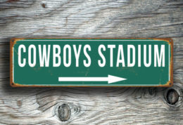 Cowboys Stadium Sign
