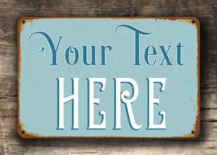 Create your own vintage sign