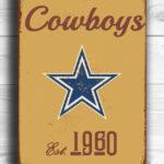DALLAS-COWBOYS-Sign-Vintage-style-Dallas-Cowboys-Sign-Est.-1960-Composite-Aluminum-Vintage-Dallas-Cowboys-Sign-FOOTBALL-Fan-Sign-Cowboys-Fan-1