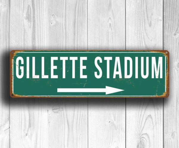 Gillette Stadium Sign
