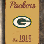 GREENBAY-PACKERs-Sign-Vintage-style-Greenbay-Packers-Sign-Est.-1919-Composite-Aluminum-Vintage-Greenbay-Packers-Sign-FOOTBALL-Fan-Sign-1