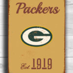 GREENBAY-PACKERs-Sign-Vintage-style-Greenbay-Packers-Sign-Est.-1919-Composite-Aluminum-Vintage-Greenbay-Packers-Sign-FOOTBALL-Fan-Sign