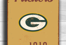 Green Bay Packers Logo Signtyle Greenbay Packers Sign Est. 1919 Composite Aluminum Vintage Greenbay Packers Sign FOOTBALL Fan Sign