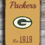 GREENBAY-PACKERs-Sign-Vintage-style-Greenbay-Packers-Sign-Est.-1919-Composite-Aluminum-Vintage-Greenbay-Packers-Sign-FOOTBALL-Fan-Sign-3