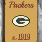 GREENBAY-PACKERs-Sign-Vintage-style-Greenbay-Packers-Sign-Est.-1919-Composite-Aluminum-Vintage-Greenbay-Packers-Sign-FOOTBALL-Fan-Sign-4