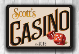 Customizable Casino Sign