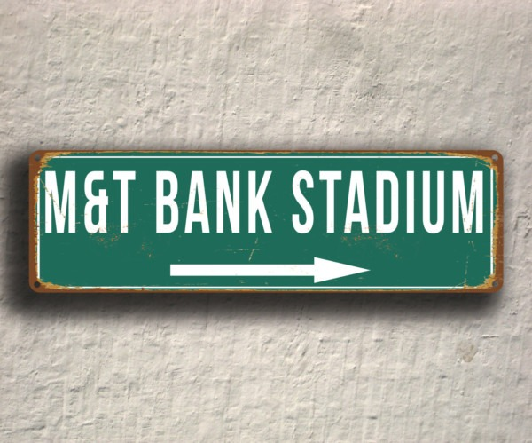 MandT Bank Stadium Sign Vintage style | Classic Metal Signs