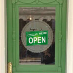 Green Open Closed Sign