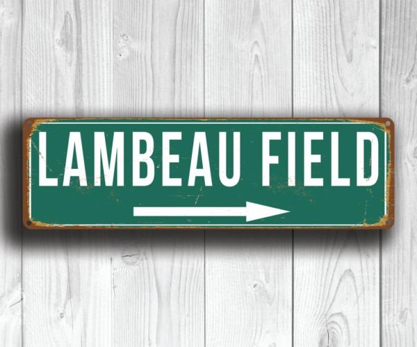 Lambeau Field Stadium Sign