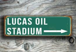 Lucas Oil Stadium Sign