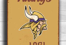 Minnesota Vikings Logo Sign