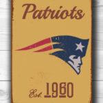 NEW-ENGLAND-PATRIOTS-Sign-New-England-Patriots-Est.-1960-Composite-Aluminum-New-England-Patriots-Sign-Football-Fan-Sign-Patriots-Sign-1