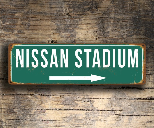 Nissan Stadium Sign