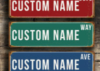 personalized metal boulevard sign