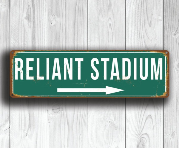 Reliant Stadium Sign
