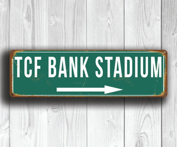 TCF Bank Stadium Sign