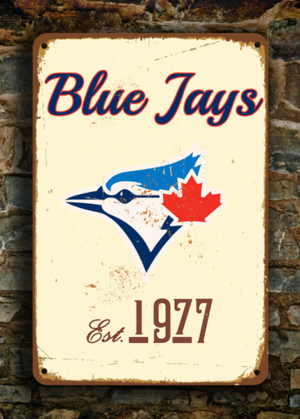 Toronto BLUE JAYS Sign Vintage Style Classic Metal Signs