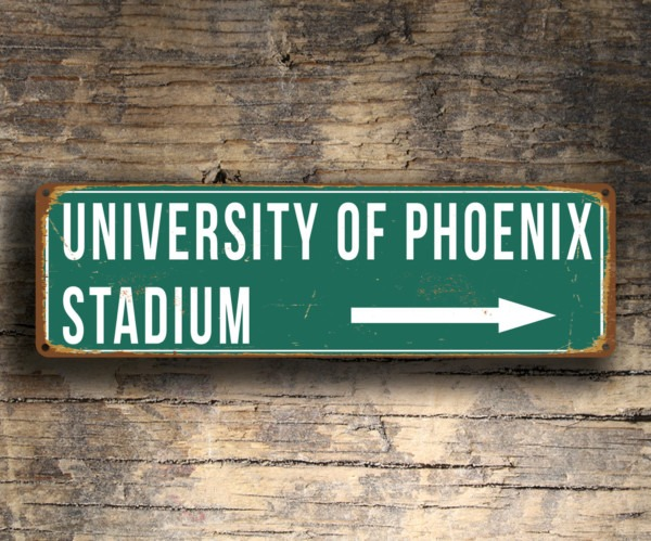 University of Phoenix Stadium Sign
