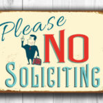 Vintage Style No Soliciting Sign