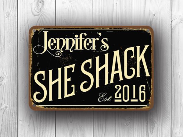 Black She Shack Sign
