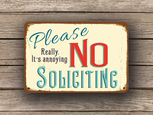 Custom No Soliciting Signs Personalized No Soliciting Signs